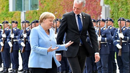 Su Angela Merkel susitikęs Gitanas Nausėda puikiai bendravo vokiečių kalba
