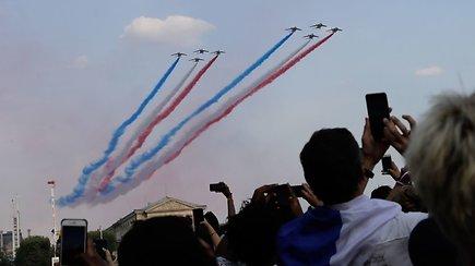 Prancūzija įspūdingai sutiko pasaulio futbolo čempionais tapusius sportininkus