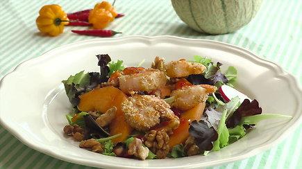 Salotos su krevetėmis: receptas lengvai vasaros vakarienei