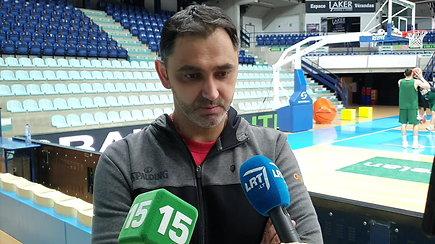 Belgijos rinktinės treneris M.Gjergja nusišypsojo, kai buvo palygintas su Šarūnu Jasikevičiumi