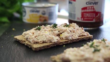 Užkandžiui – gurmaniška užtepėlė su tunu ir varške