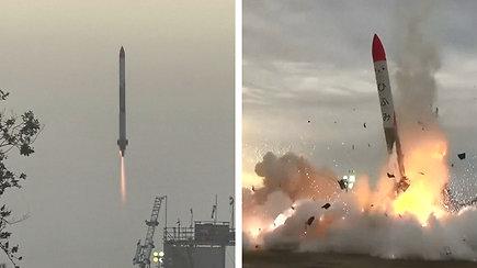 Fiasko: japonų verslininko raketa nukrito vos pakilusi