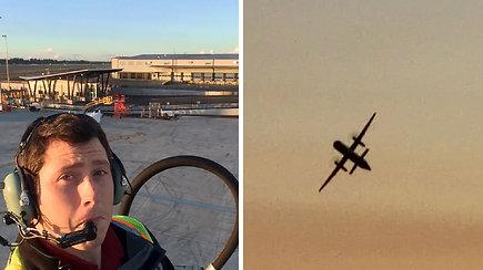 Paviešintas Sietle lėktuvą nuvariusio vyro įrašas atskleidė paskutines desperatiškas akimirkas