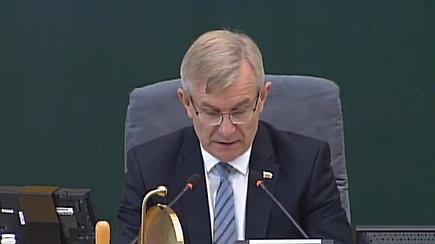 V.Pranckietis nusikeikė Seimo posėdyje