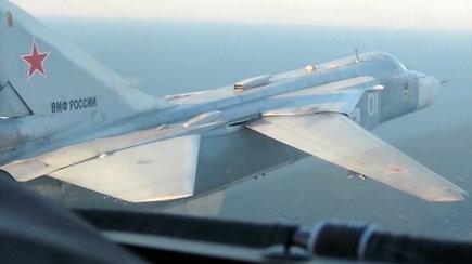 Netoli Lietuvos sienos Rusijos karinio laivyno oro pajėgos surengė bombardavimo pratybas