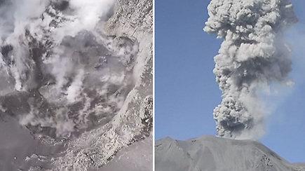 Mokslininkai iš viršaus nufilmavo, kas dedasi aktyvaus vulkano viduje