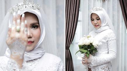 """Širdį verianti sudužusio """"Lion Air"""" keleivio meilės istorija: žuvusiojo sužadėtinė vestuvinėje fotosesijoje pozavo viena"""