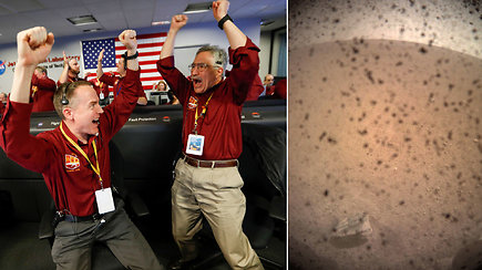 7 įtampos minutės: NASA zondas sėkmingai nusileido Marse