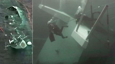 Po susidūrimo su tanklaiviu nuskendusi Norvegijos karo laivyno fregata ruošiama iškėlimui