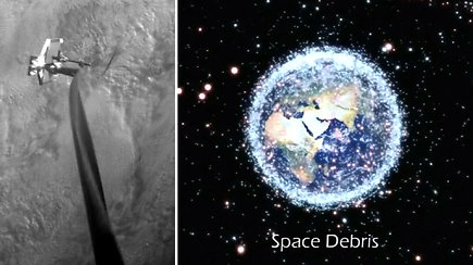 Kosmoso šiukšlių susidūrimas gali sukelti katastrofą – nuo jos apsaugos atliekų gaudyklė