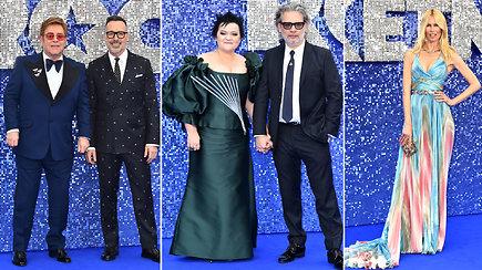 J.Statkevičiaus suknelę vilkinti Dalia Ibelhauptaitė su pasaulio įžymybėmis sužibo ant mėlynojo kilimo