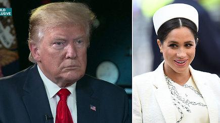 Bjauria Meghan Markle pavadinęs D.Trumpas bando srėbti savo košę: ji bjauriai kalbėjo apie mane