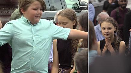 Spontaniškas berniuko poelgis nustebino aktyvistę G.Thunberg – tokio akibrokšto fotografai nesitikėjo