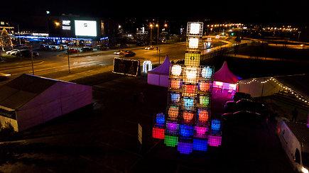 Estijos gyventojai liko nustebinti: dar nebuvo matę tokios neįprastos Kalėdų eglės
