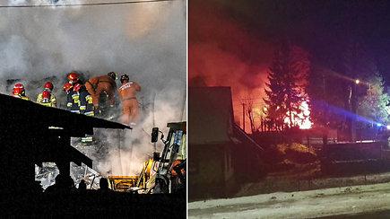 Nelaimė Lenkijos slidinėjimo kurorte: per dujų sprogimą žuvo šeši ir dingo dar du žmonės