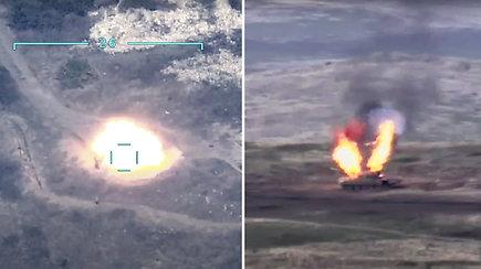 Kalnų Karabache vėl plykstelėjo karinis Armėnijos ir Azerbaidžano konfliktas