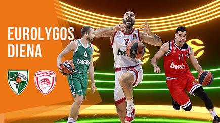 """""""Eurolygos diena"""": pradingę """"Žalgirio"""" aukštaūgiai ir užsidegusi """"Olympiakos"""" žvaigždė"""