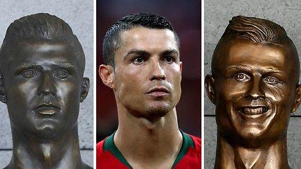 Pakeistas pašaipą kėlęs Madeiros oro uoste stovintis C.Ronaldo biustas