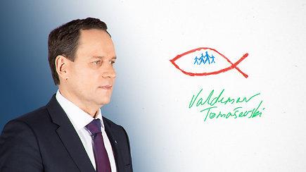 Kandidatas piešia Lietuvos ateitį. V.Tomaševskis apie lietuviams svarbias vertybes