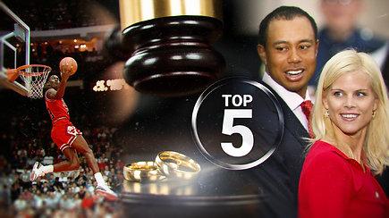 Didelės nuodėmės ir didelės sumos: brangiausių sporto žvaigždžių skyrybų TOP 5