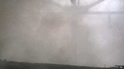 Gaisras Alytuje: degusio pastato pastato vidus
