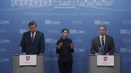 Spaudos konferencija po Ministrų kabineto pasitarimo dėl COVID-19 Lietuvoje