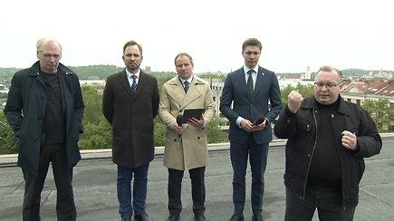 Nuo Lietuvos nacionalinio operos ir baleto teatro stogo – Vyriausybės spaudos konferencija