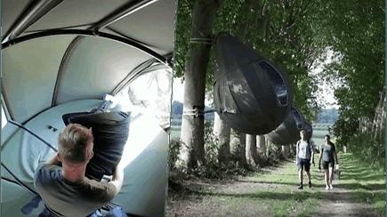 Atrado naują stovyklavimo būdą: įsikuria palapinėse medžiuose