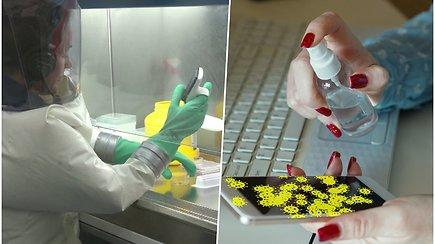 Tyrimai parodė, kad ant telefono ekrano ir kitų paviršių koronavirusas gali išlikti užkrečiamas iki 28 d.