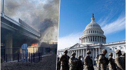 J.Bideno inauguracijos repeticiją sugadino gaisras, baiminamasi dėl saugumo tikrosios ceremonijos metu