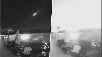 Asteroidas dideliu greičiu įsiveržė į Žemės atmosferą ir sprogo  – blyksnis nušvietė visą dangų