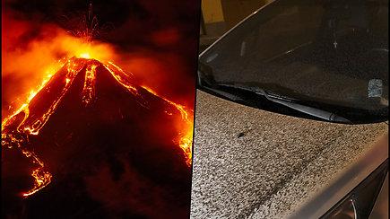Etnos ugnikalnis vėl spjaudosi ugnimi – į vandenyną nuslydusi lava gali sukelti cunamį