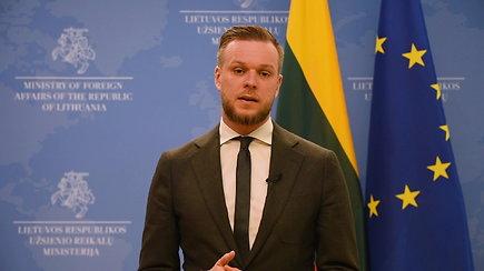 Ministras G.Landsbergis: turime aiškiai pasakyti, kas būtų, jeigu Rusija kirstų raudonąsias linijas
