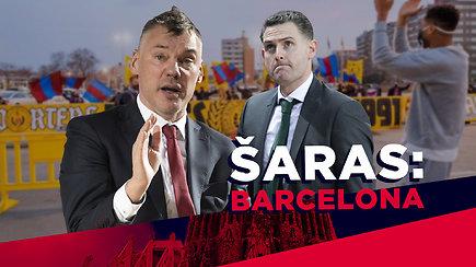 """Barselona Kauno """"Žalgirį"""" pasitiko su """"fejerverkais"""". Sirgalių staigmenos ir patenkintas Š.Jasikevičius: """"Šventėm žalgiriškai"""""""