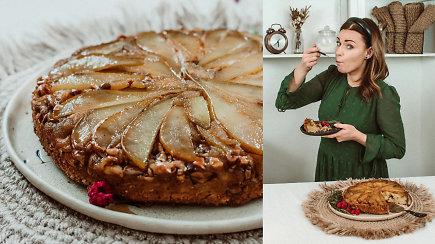 Pasilepinkite: Aurelijos pyragas su kriaušėmis ir kepintais anakardžiais