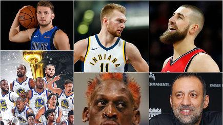 """""""Atsarginiai"""": L.Dončičiaus intriga NBA, lietuvių sezonas ir didžiausių NBA bepročių Top 5"""