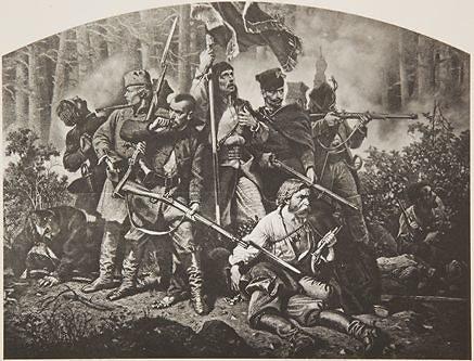 Tinklalapio lenkukultura.lt iliustracija/1863 - 1864 m. sukilimas