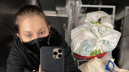 Agnė Kulitaitė savanoriauja Lazdynų ligoninėje