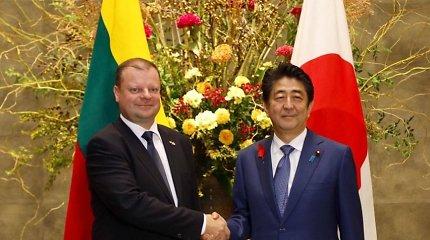 S.Skvernelis su Japonijos premjeru Sh. Abe aptarė ekonominius santykius, saugumo padėtį