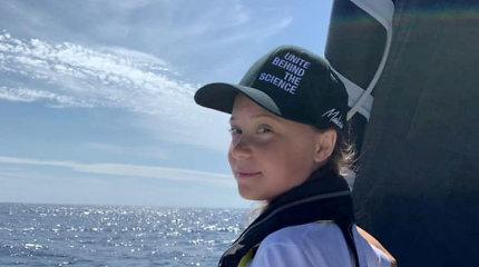 Šešiolikmetės klimato aktyvistės G.Thunberg burinė jachta perplaukė Atlantą