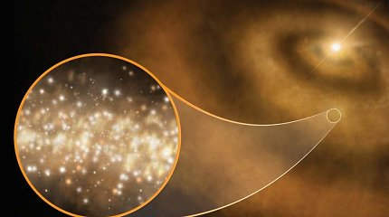 Užfiksuotas keistas kosminis signalas: tikriausiai jį skleidžia deimantų debesis