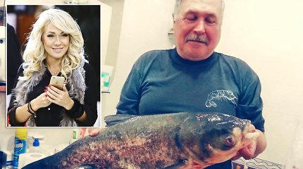 Įspūdingas Oksanos Pikul-Jasaitienės tėvo laimikis: Ukrainoje sužvejojo 6 kg plačiakaktį