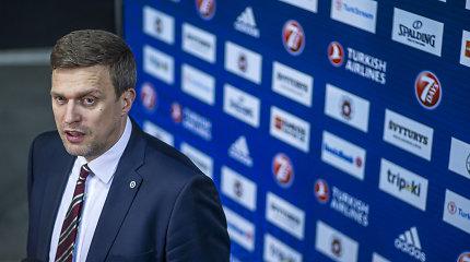 """Klausimo apie """"Žalgirį"""" Belgrade nustebintas D.Adomaitis susitelkęs į """"Ryto"""" tikslą"""