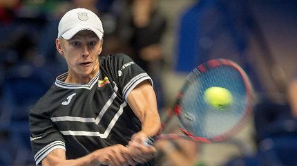"""Lietuvos teniso viltis galvojo apie karjeros pabaigą: """"Dvejus metus buvo vien skausmas"""""""