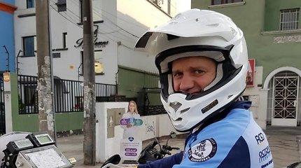 Balys Bardauskas atsisakė išbandyti raliui skirtą motociklą kopose prie Limos
