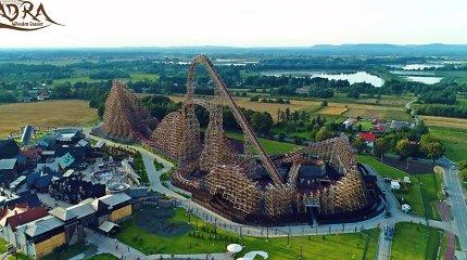 Lenkijoje atidaryti aukščiausi pasaulyje mediniai amerikietiški kalneliai