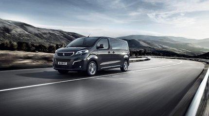 """""""Peugeot"""" pristato naująjį elektrinį kelionėms skirtą """"e-Traveller"""""""