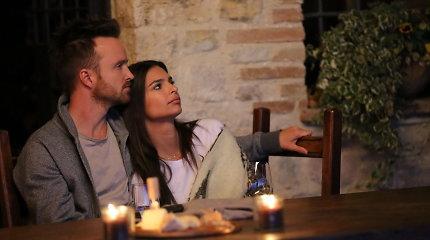 Aktorius Aaronas Paulas prisipažino – jo žmona nėra jo meilės scenų su kolegėmis gerbėja