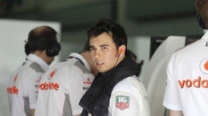 """""""McLaren"""": Sergio Perezas lenktyniaus """"Force India"""" F-1 komandoje"""