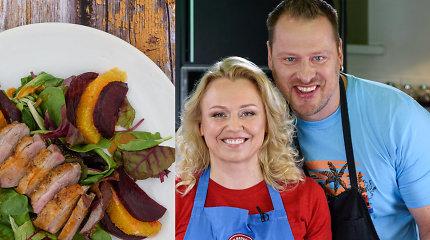 """Laidoje """"Tarasovai virtuvėje"""" – šiltajam metų sezonui tinkančios salotos su antiena"""